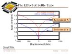 the effect of settle time