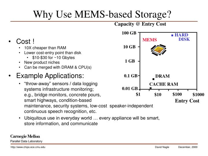 Why Use MEMS-based Storage?