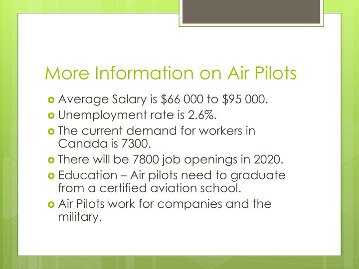 More Information on Air Pilots