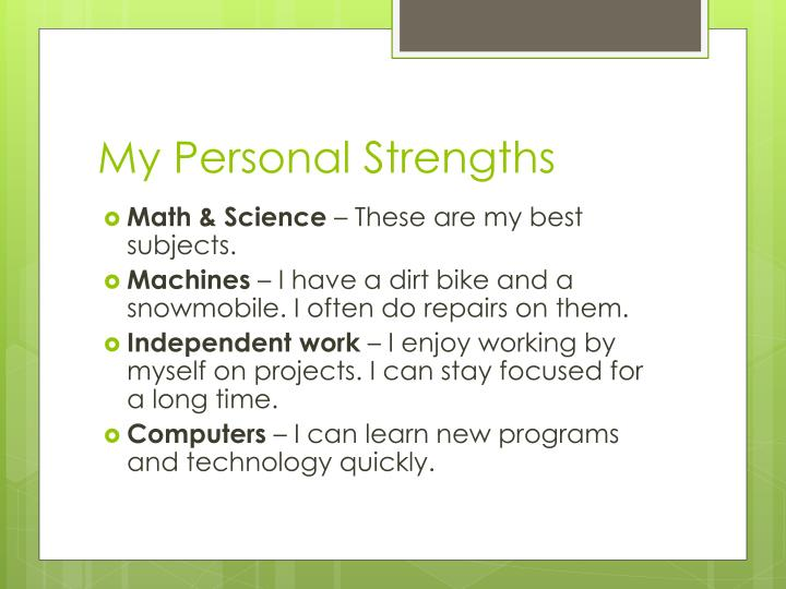 My personal strengths