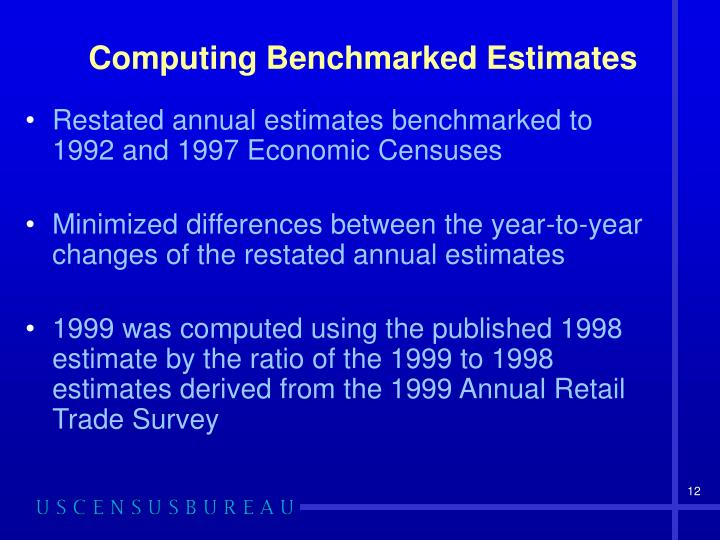 Computing Benchmarked Estimates