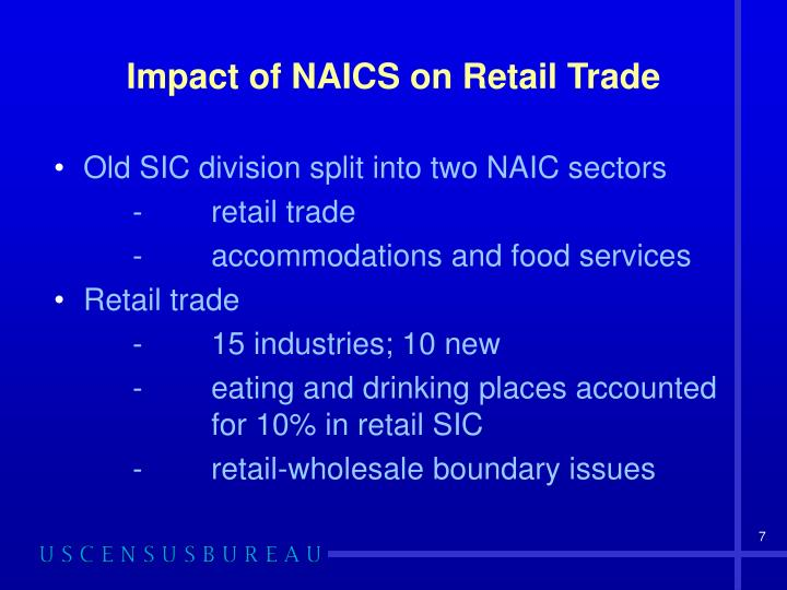 Impact of NAICS on Retail Trade