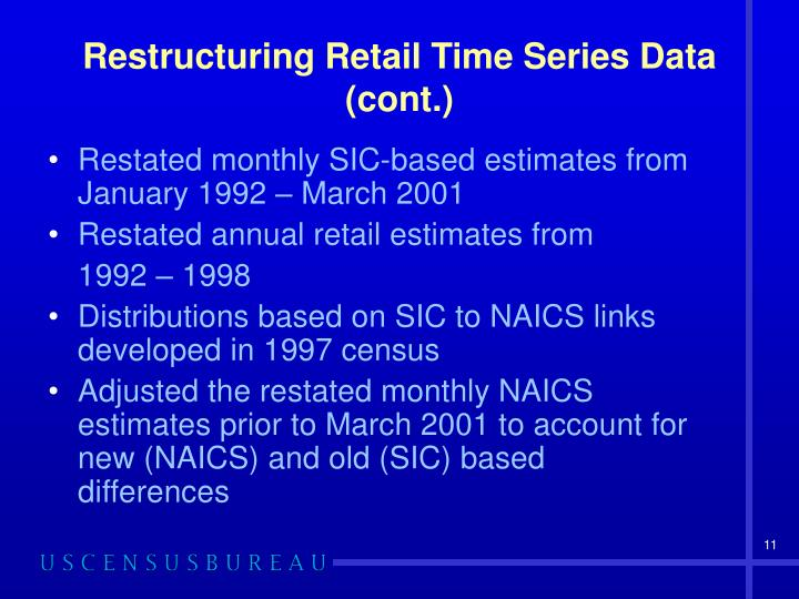 Restructuring Retail Time Series Data (cont.)