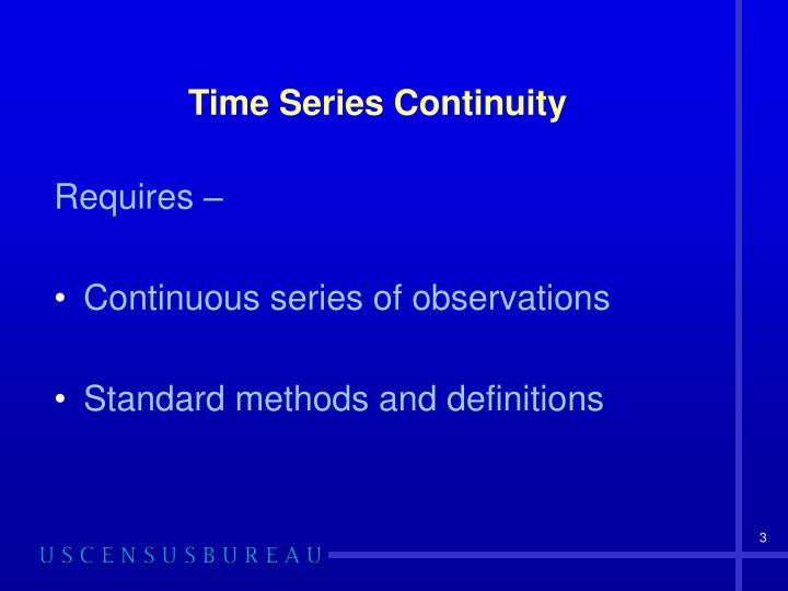 Time series continuity