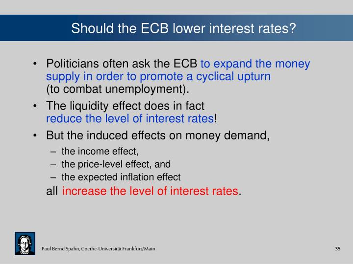 Should the ECB lower interest rates?