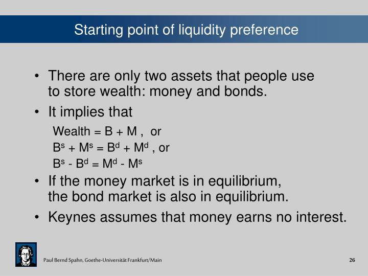 Starting point of liquidity preference