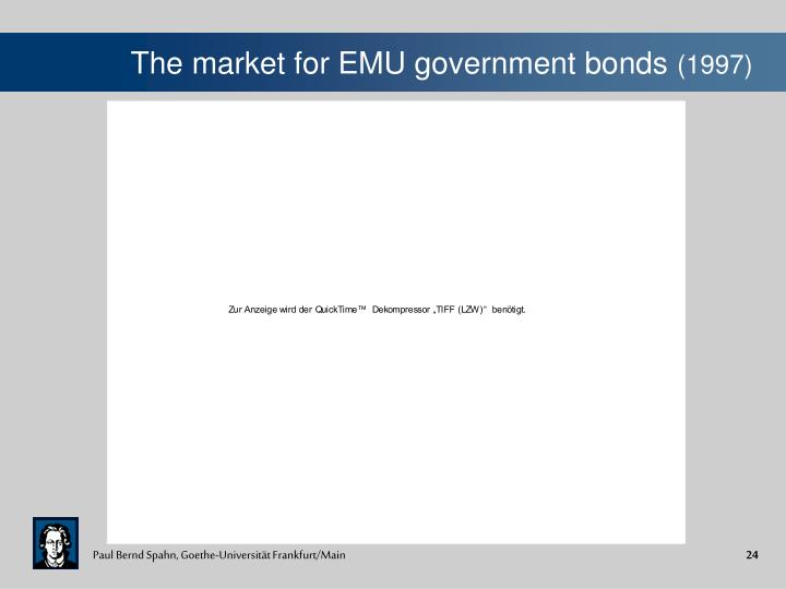 The market for EMU government bonds