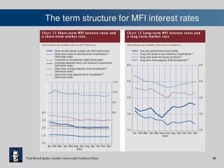 The term structure for MFI interest rates