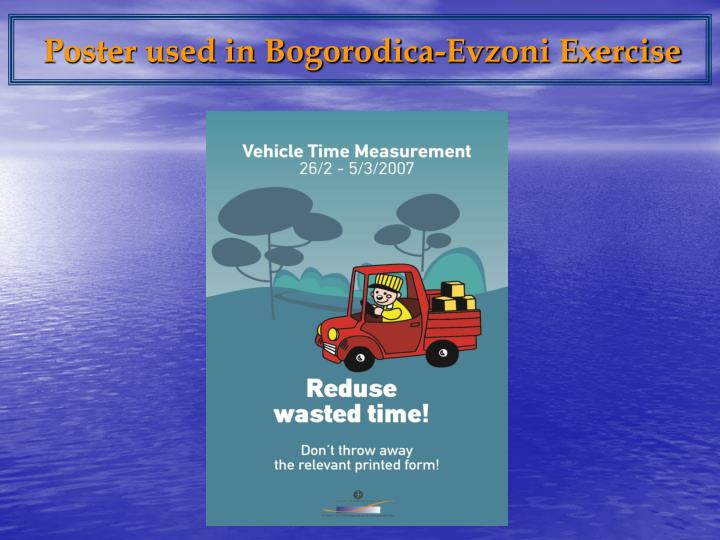 Poster used in Bogorodica-Evzoni Exercise