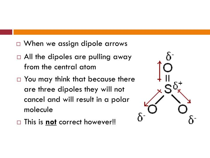 When we assign dipole arrows