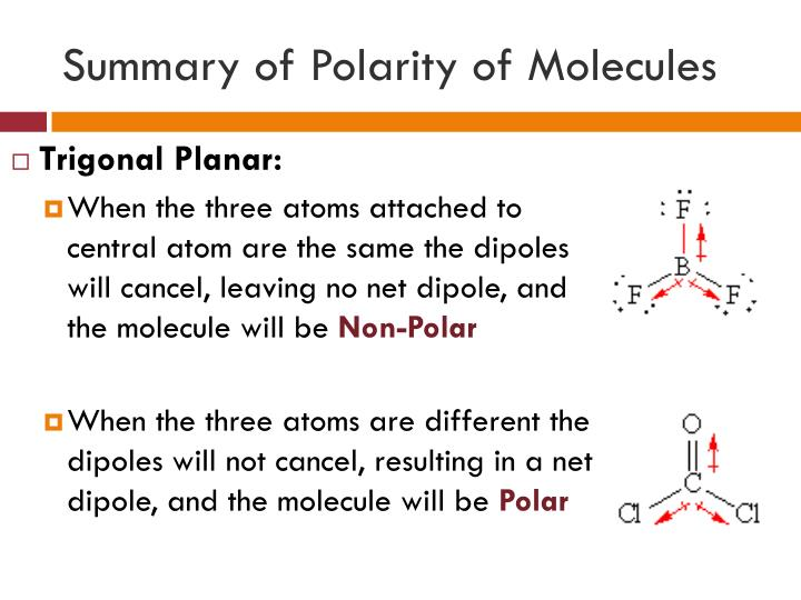 Summary of Polarity of Molecules