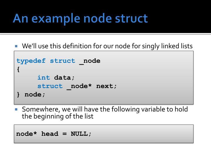 An example node