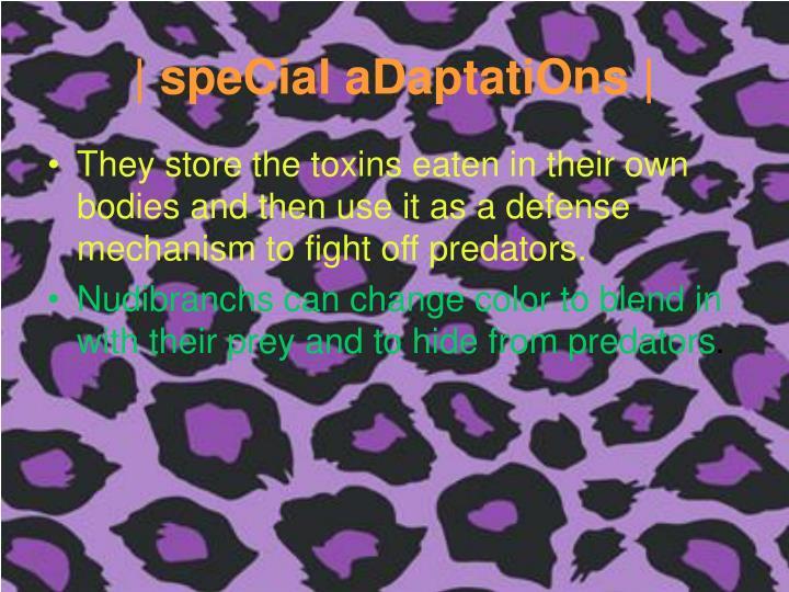 | speCial aDaptatiOns |