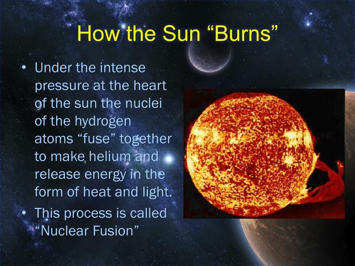 """How the Sun """"Burns"""""""