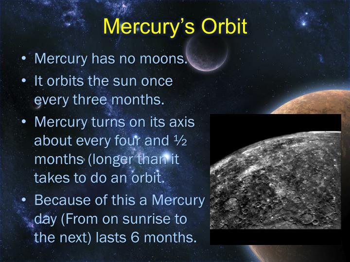 Mercury's Orbit
