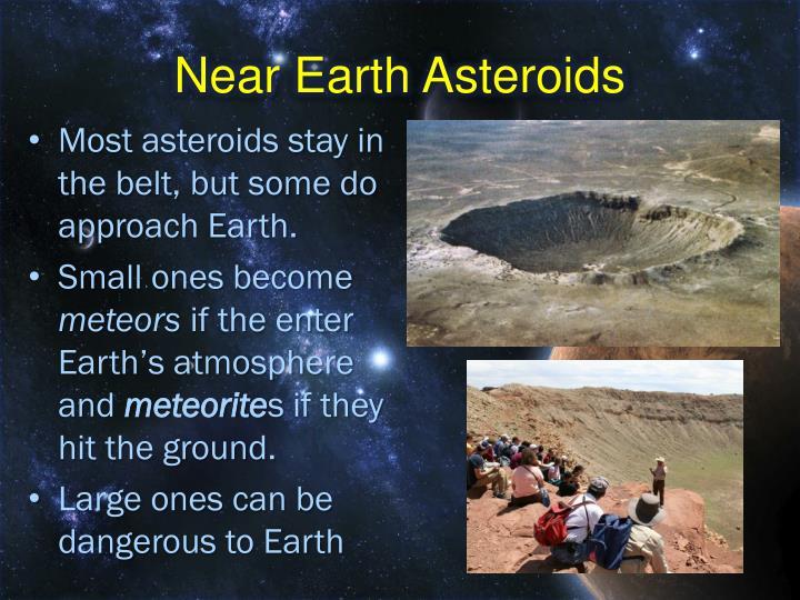 Near Earth Asteroids