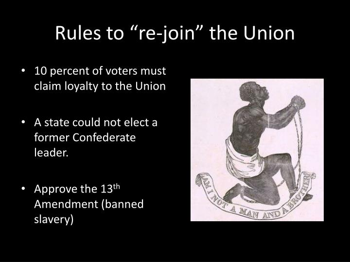 "Rules to ""re-join"" the Union"