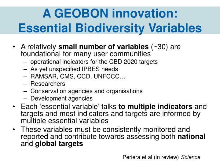A GEOBON innovation:
