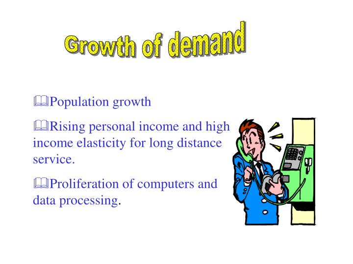 Growth of demand