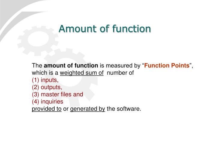 Amount of function
