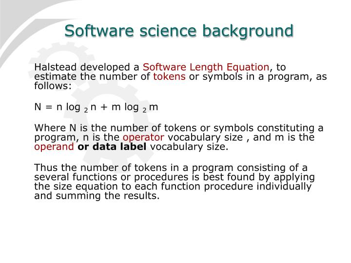 Software science background