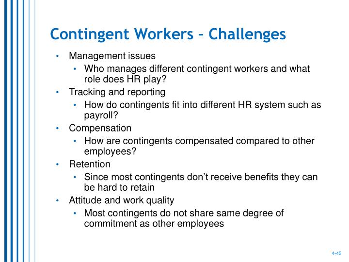Contingent Workers – Challenges