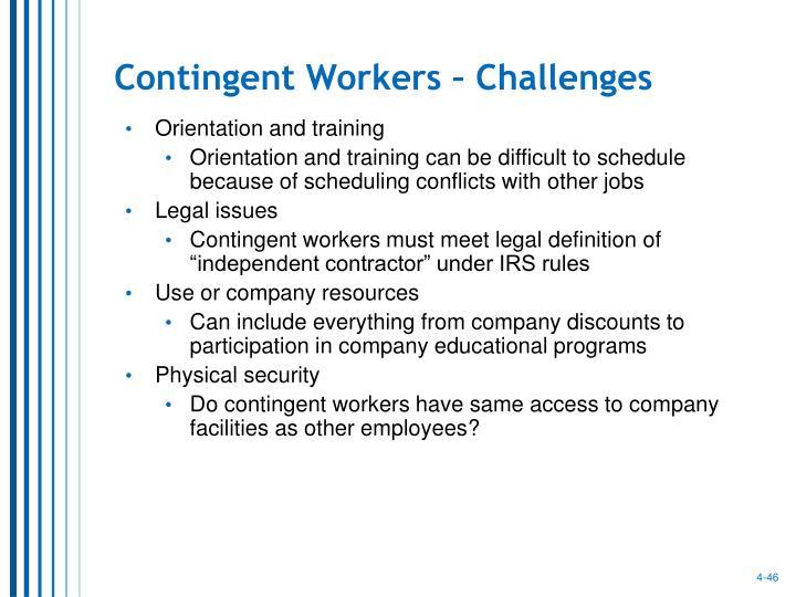 Contingent Workers – Challenges