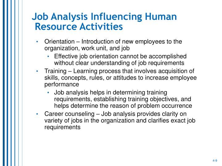 Job Analysis Influencing Human