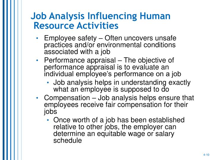 Job Analysis Influencing Human