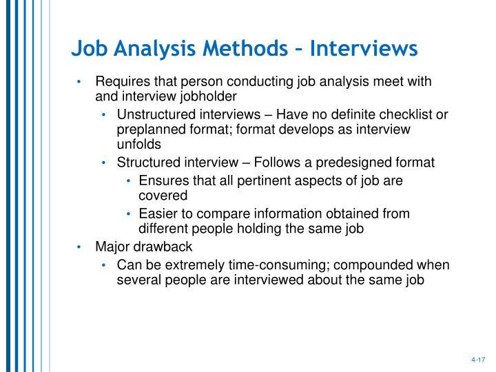 Job Analysis Methods – Interviews
