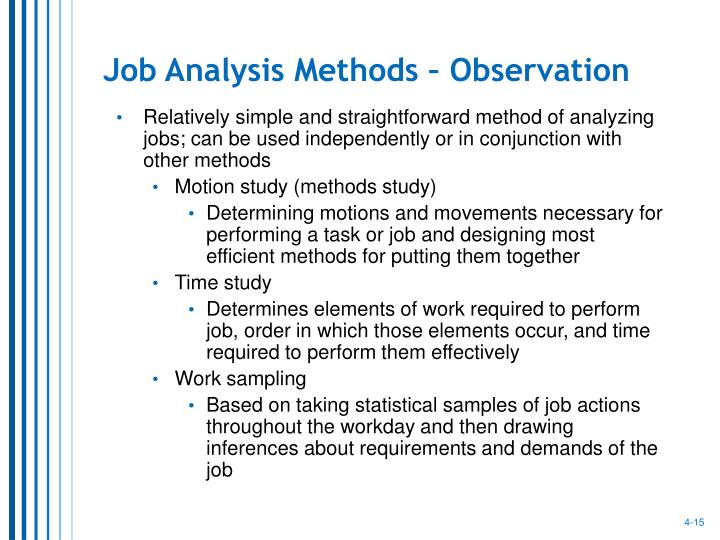 Job Analysis Methods – Observation