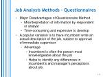 job analysis methods questionnaires1