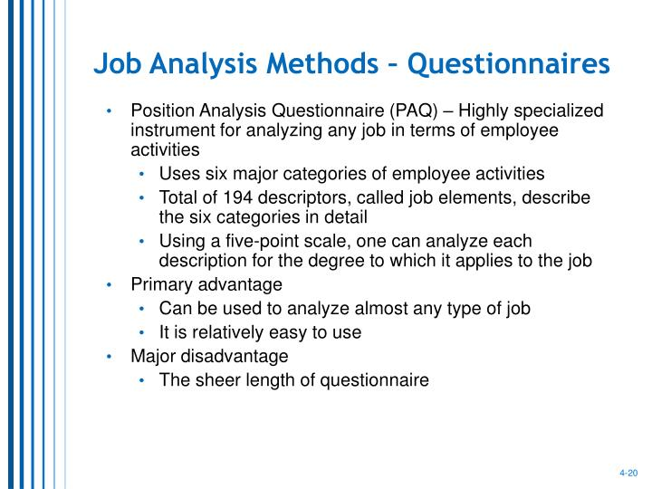 Job Analysis Methods – Questionnaires