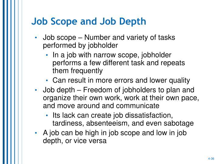 Job Scope and Job Depth