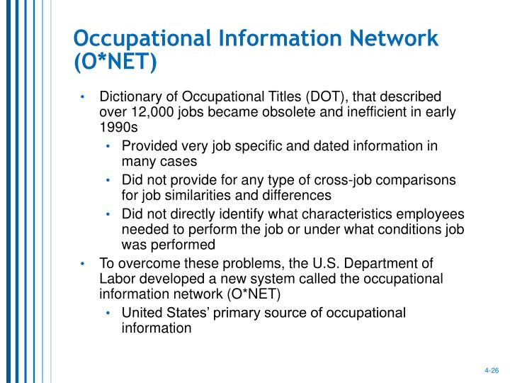 Occupational Information Network (O*NET)