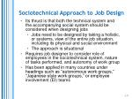 sociotechnical approach to job design