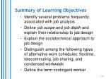 summary of learning objectives1