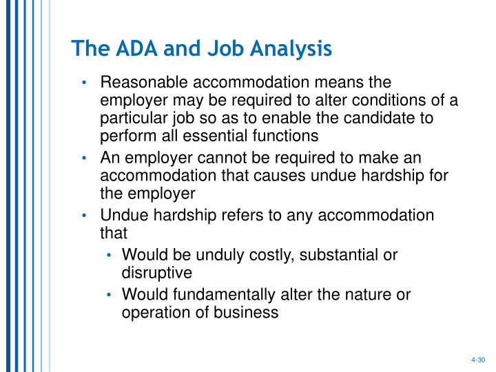 The ADA and Job Analysis