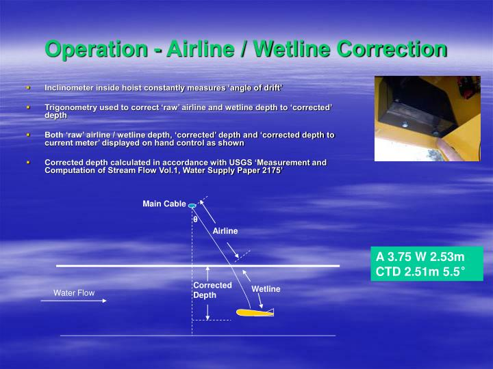 Operation - Airline / Wetline Correction