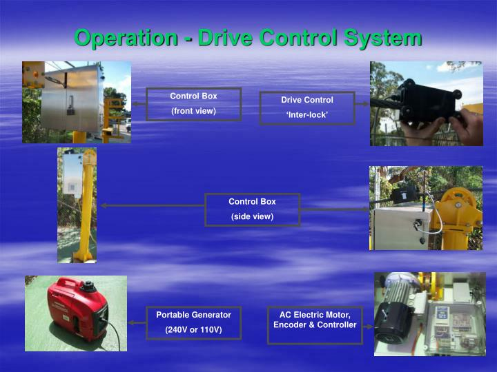 Operation - Drive Control System