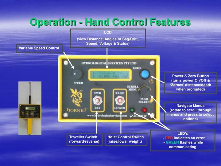 Operation - Hand Control Features