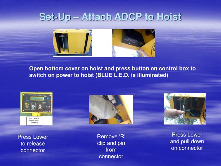 Set-Up – Attach ADCP to Hoist