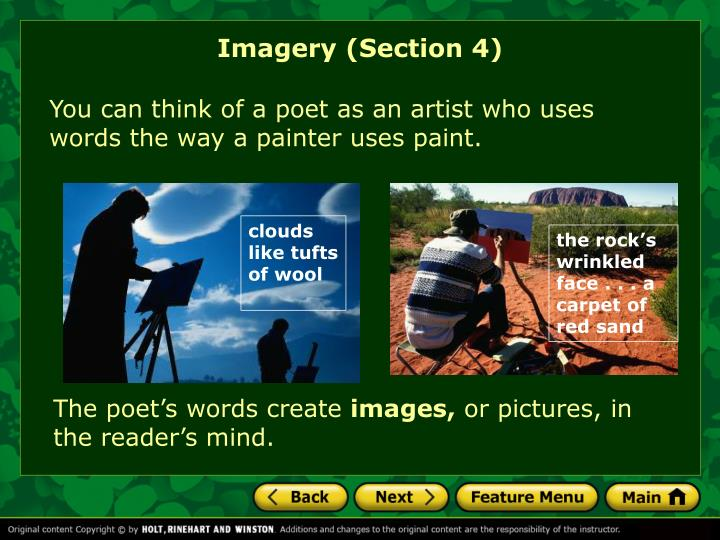 Imagery (Section 4)