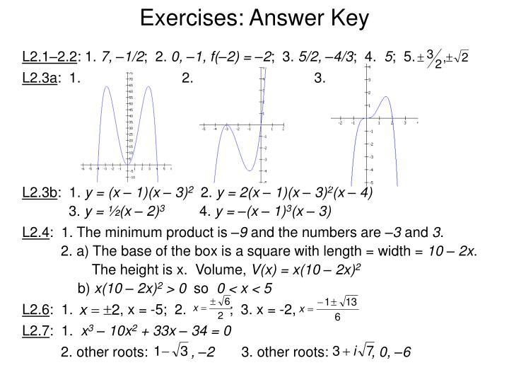 Exercises: Answer Key