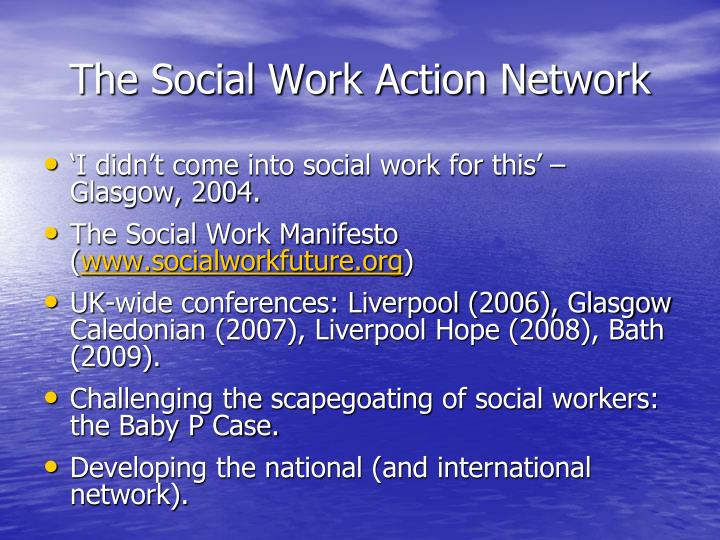 The Social Work Action Network