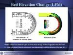 bed elevation change lfm