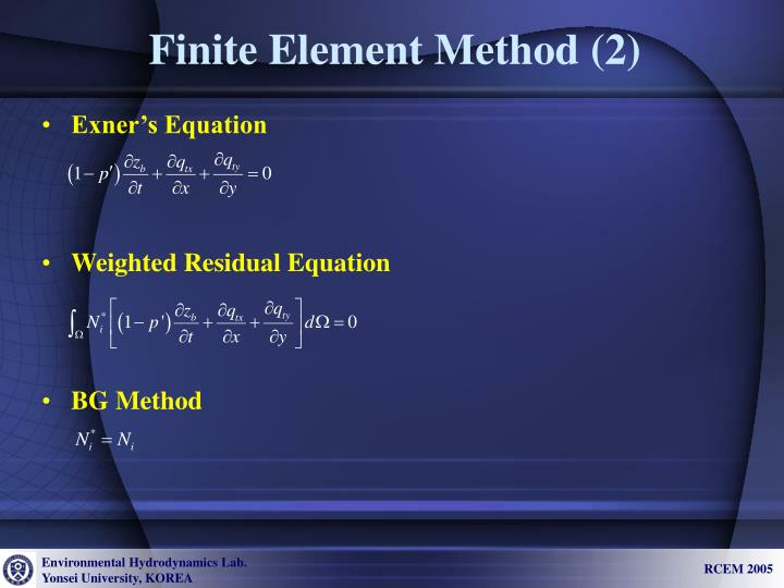 Finite Element Method (2)