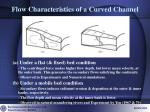 flow characteristics of a curved channel