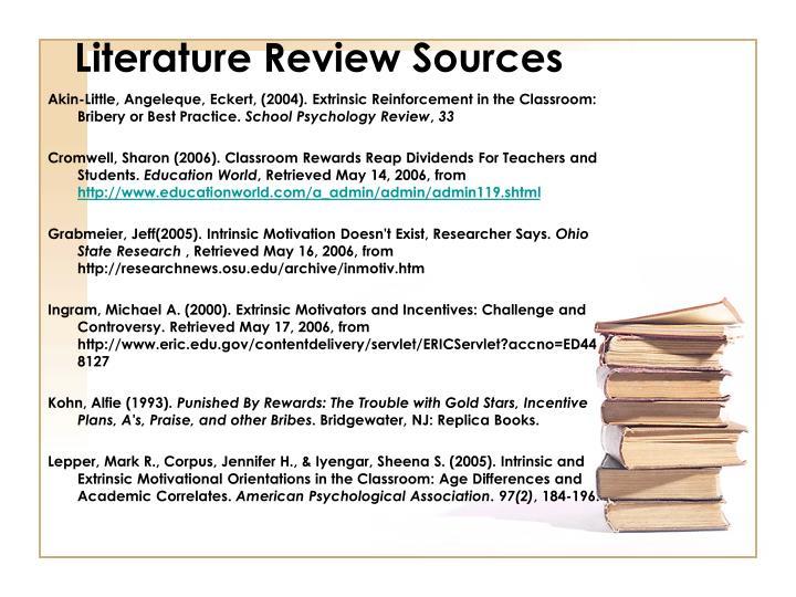 Literature Review Sources