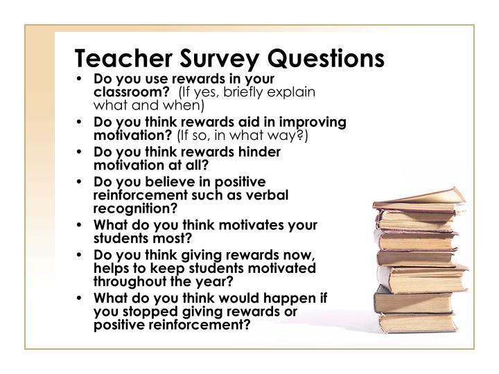 Teacher Survey Questions